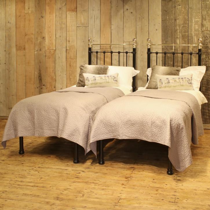 Paar Betten in schwarz antik Bett Paar ca. 1900