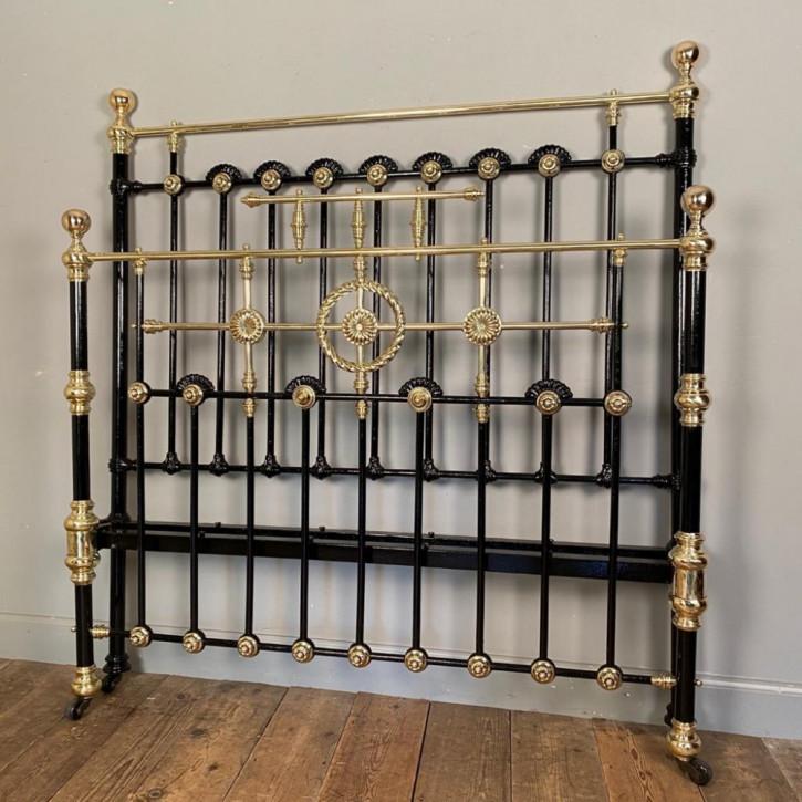 Doppelbett Messing Eisen antikes Bett 19. Jahrhundert