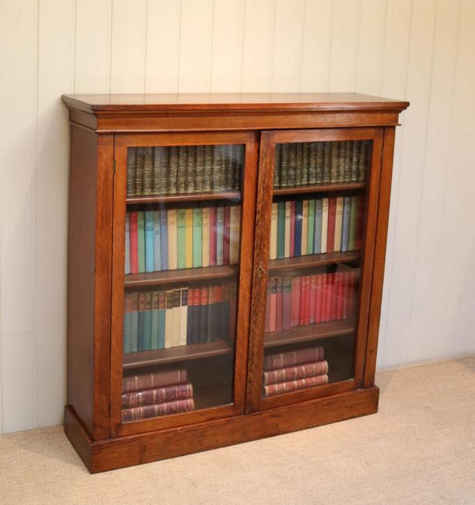 Edwardianischer Eichen Bücherschrank Massivholz antik ca 1910