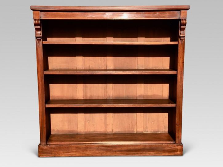 Mahagoni Bücherschrank Massivholz antik ca 1880