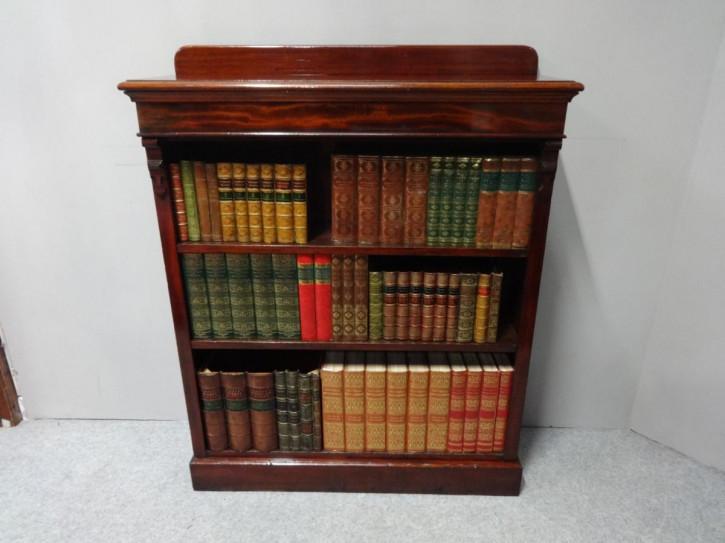 Viktorianisches offenes Mahagoni Bücherregal Massivholz antik ca 1860