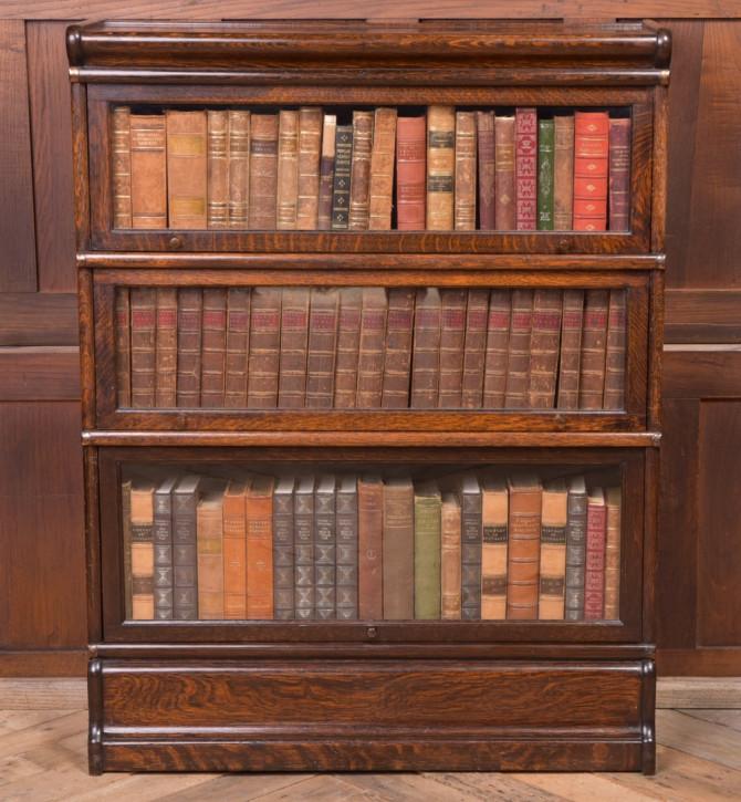 Edwardianischer GlobeWernicke Eichen Bücherschrank Massivholz antik ca 1900