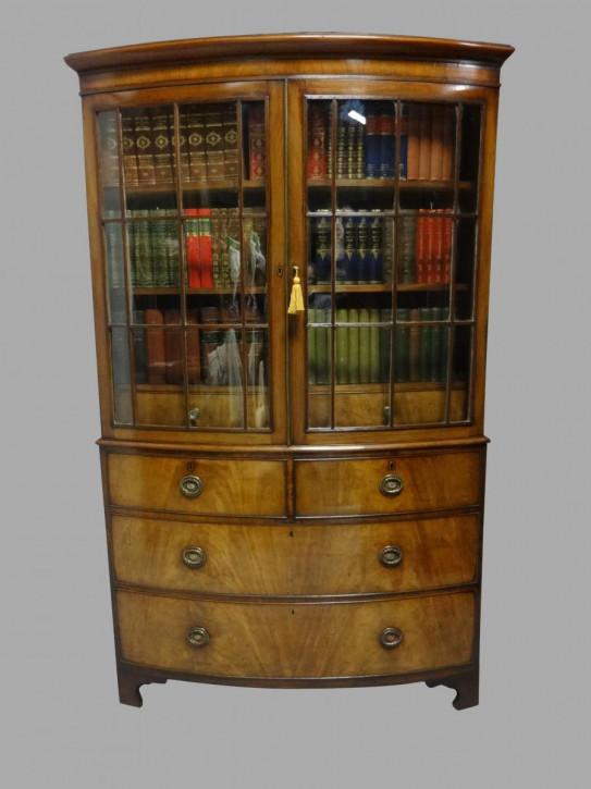 Bücherschrank Massivholz antik 19.Jahrhundert