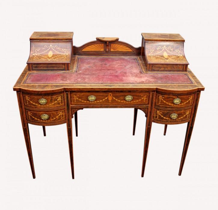 Palisander Schreibtisch Massivholz antik ca 1900