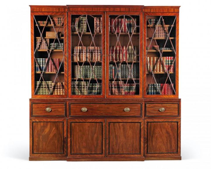 breakfront Bücherschrank antik Massivholz 1795