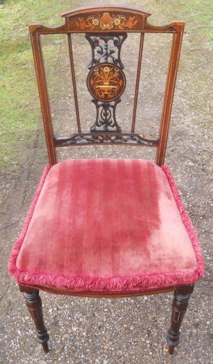 Antiker edwardianischer Stuhl aus Palisander, ca. 1900