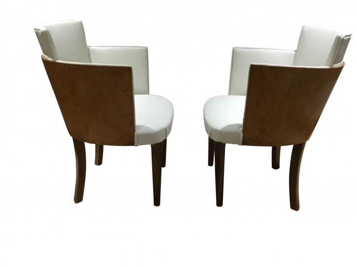 Art Déco Beistellstühle zwei Stühle antik Vogelaugenahorn ca. 1930