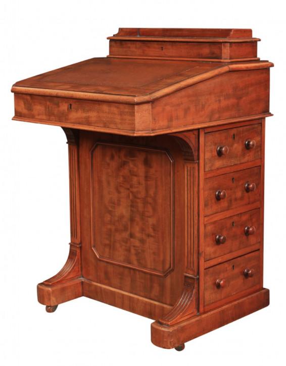 Mahagoni Davenport Schreibtisch Massivholz antik ca 1880