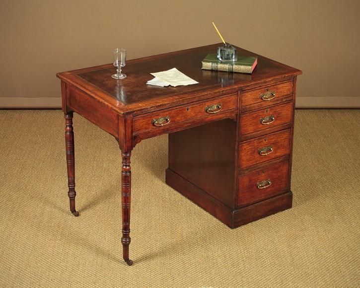 Eichen Schreibtisch Massivholz antik ca 1900