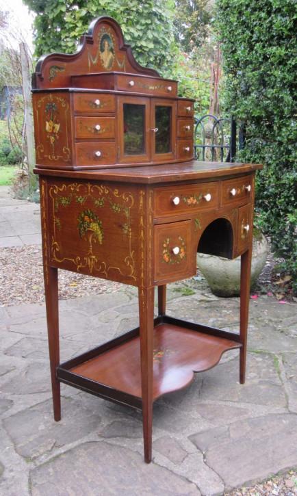 Mahagoni Bonheur du Jour/Schreibtisch Massivholz antik ca 1900