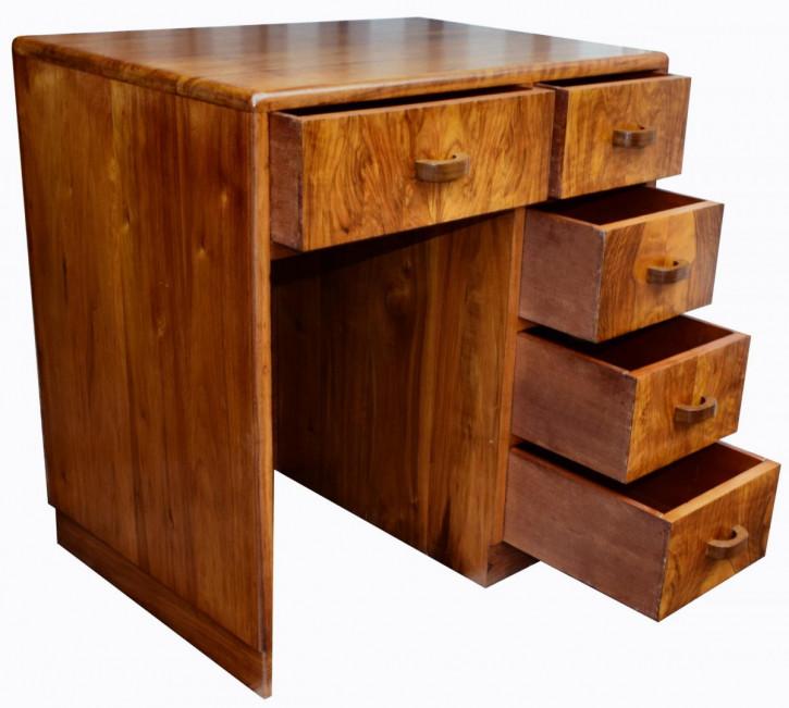 Art Deco Nussbaum Schreibtisch Massivholz antik ca 1930