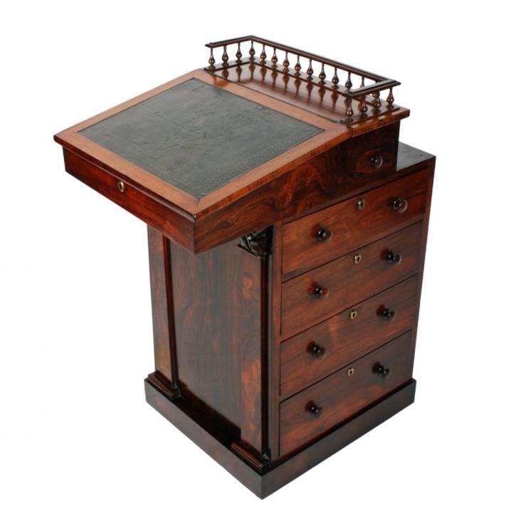 Georgianischer Palisander Schreibtisch Massivholz antik ca 1825