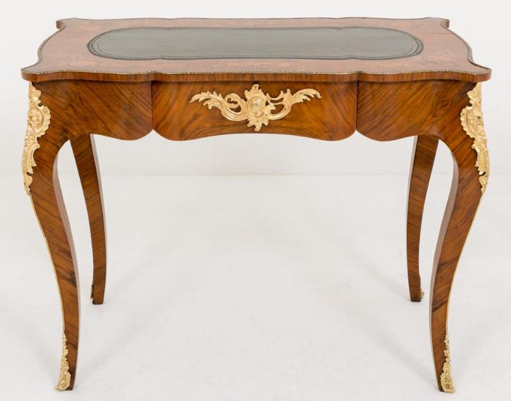 Nussbaum Schreibtisch Massivholz antik ca 1860