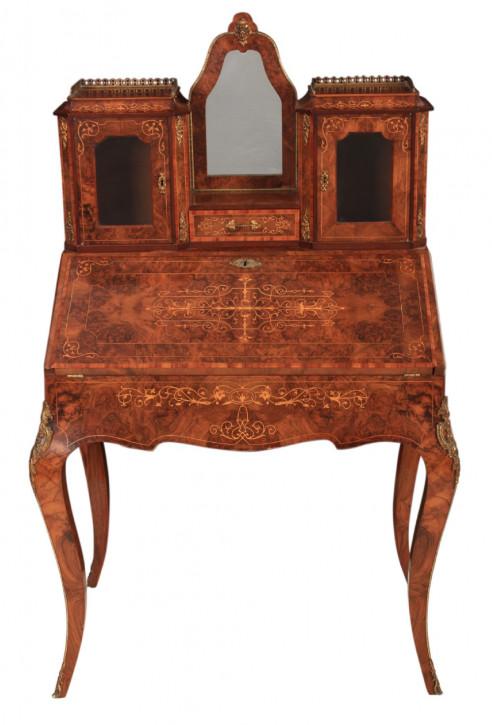Viktorianischer Massivholz Schreibtisch antik ca 1880