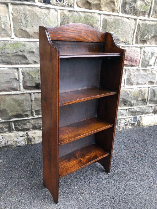 Antikes Bücherregal aus Eichenholz