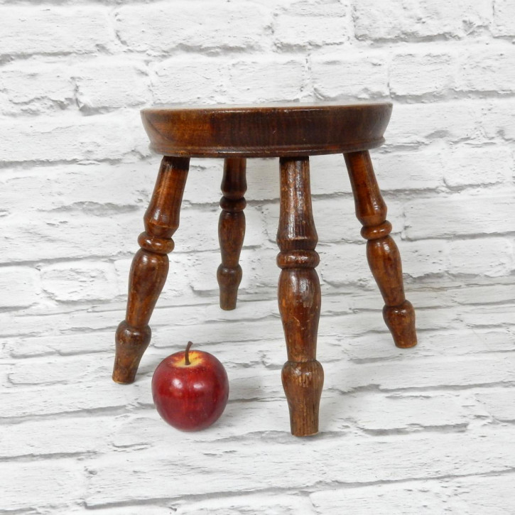 Antiker Country Stool aus Ulme  Hocker