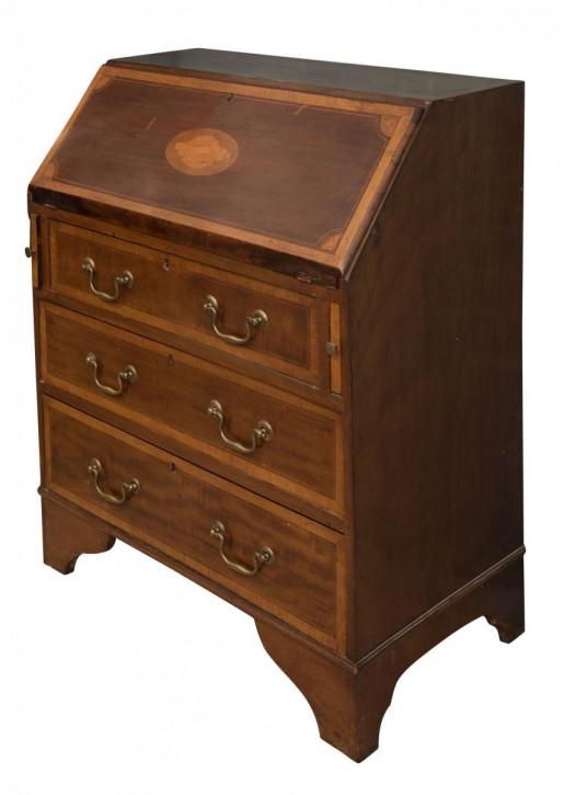 Bureau Schreibtisch Schreibfläche antik Mahagoni Massivholztisch ca. 1910