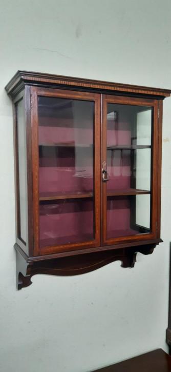 antiker Bücherschrank Massivholz 20. Jahrhundert