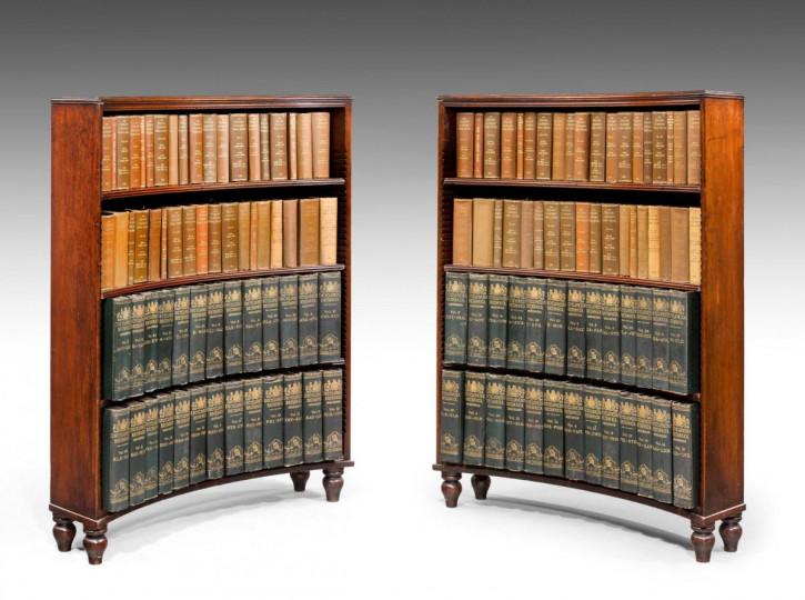 antikes Paar Bücherschränke Mahagoni Massivholz 1810