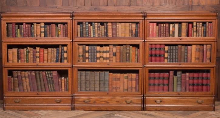 Set aus 3 Globe-Wernicke-Bücherschränken aus Eichenholz