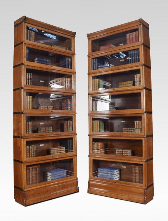 Paar Eichenholz Bücherregal von Globe Wernicke