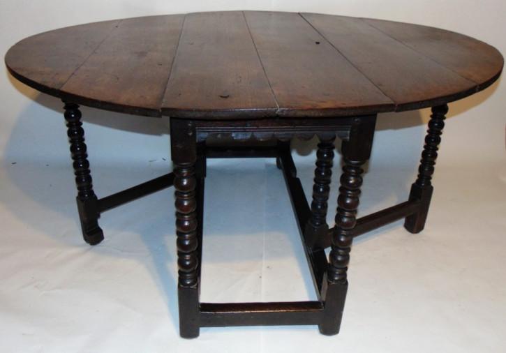 Antiker Esstisch / Gateleg Dining Table aus Eiche, ca. 1670