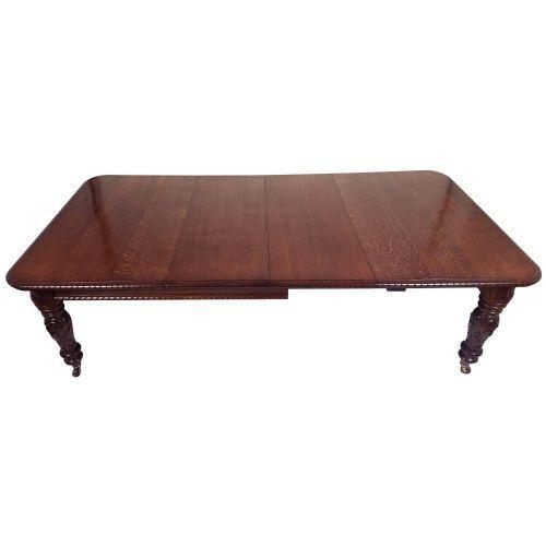 Viktorianischer ausziehbarer Esstisch aus Eichenholz