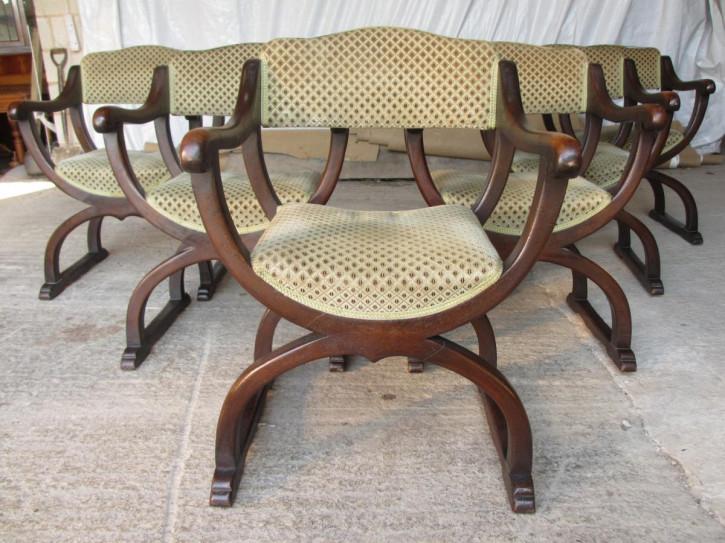 Antikes Set aus sechs Eichen-Esszimmerstühlen aus dem späten 19. Jahrhundert