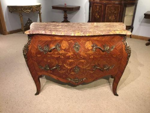 Antike, französische Veilchenholz Kommode im Louis XV-Stil
