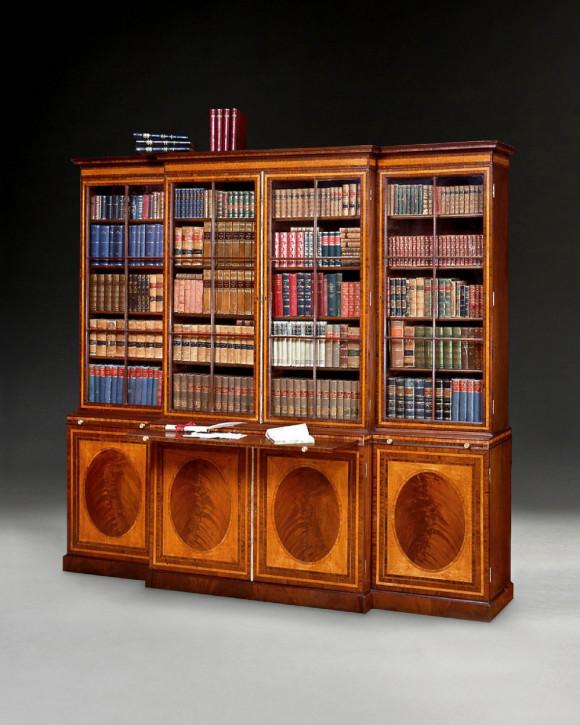 antiker Bücherschrank aus Mahagoni Massivholz 1780 GeorgeIII.