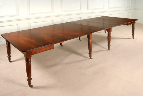Antker ausziehbarer Esstisch aus der regency Zeit, gestempelt mit Gillows Lancaster