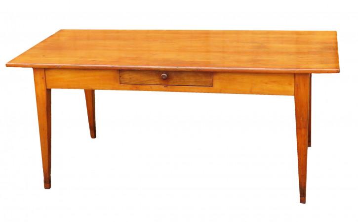 Antiker Esstisch aus französischem Kirschholz aus dem 19. Jahrhundert