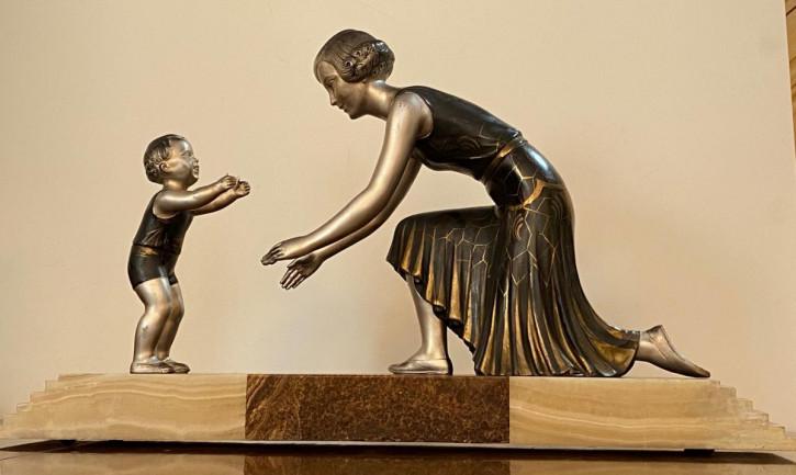 Antike Art-Deco-Skulptur von Lucien Gilbert (1904-1988)