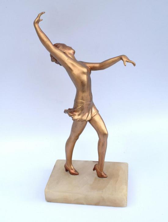 Antike Art-Deco-Spelter-Figur, um 1930