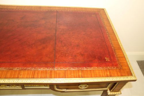 Premium! Freistehender Schreibtsich aus Mahagoni Massivholz um 1880 antik