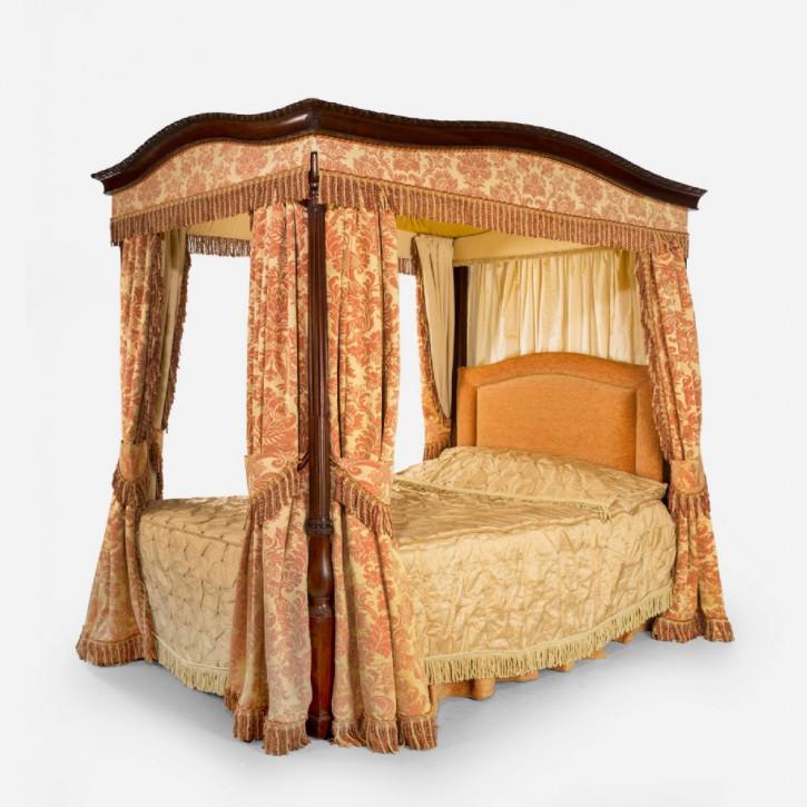 Premium! Antikes gerahmtes Mahagoni-Himmelbett aus dem frühen 20. Jahrhunderts