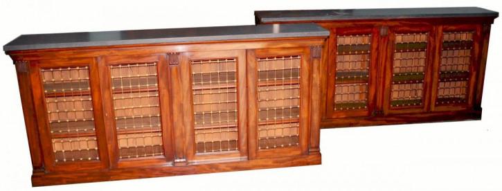 Premium! Antikes Paar 4-türige Mahagoni-Sideboards aus der Zeit George IV