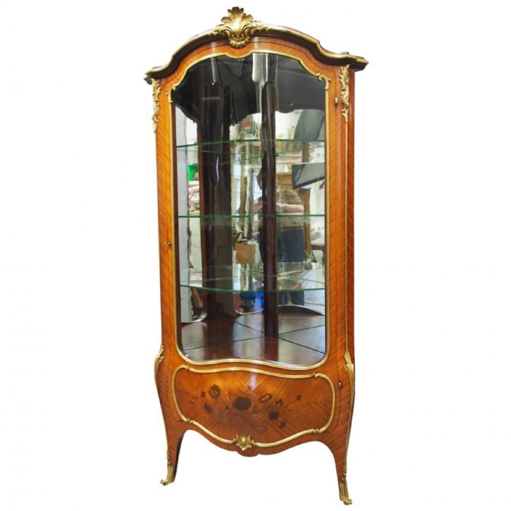 Premium! Antike Palisander Eckvitrine aus der viktorianischen Epoche