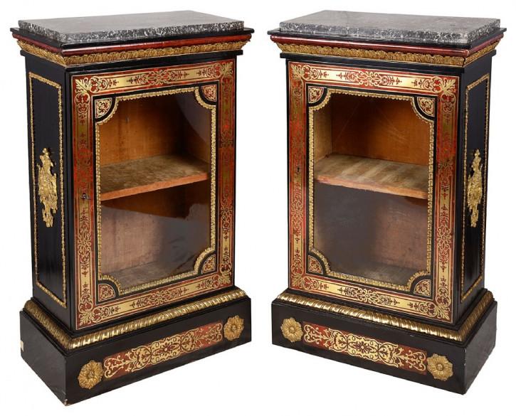Premium! Antikes Paar Boulle Side-Schränke im Louis XVI Stil