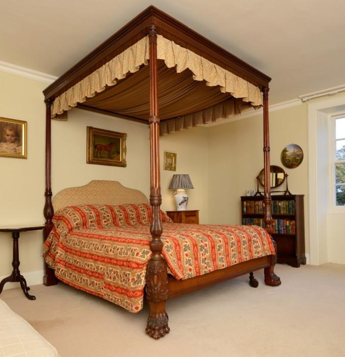 Premium! Antikes Mahagoni Himmelbett aus dem 18. Jahrhundert
