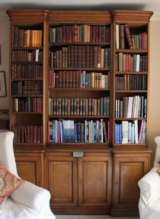 Antiker, viktorianischer Bücherschrank von Familie Patteson aus Massivholz