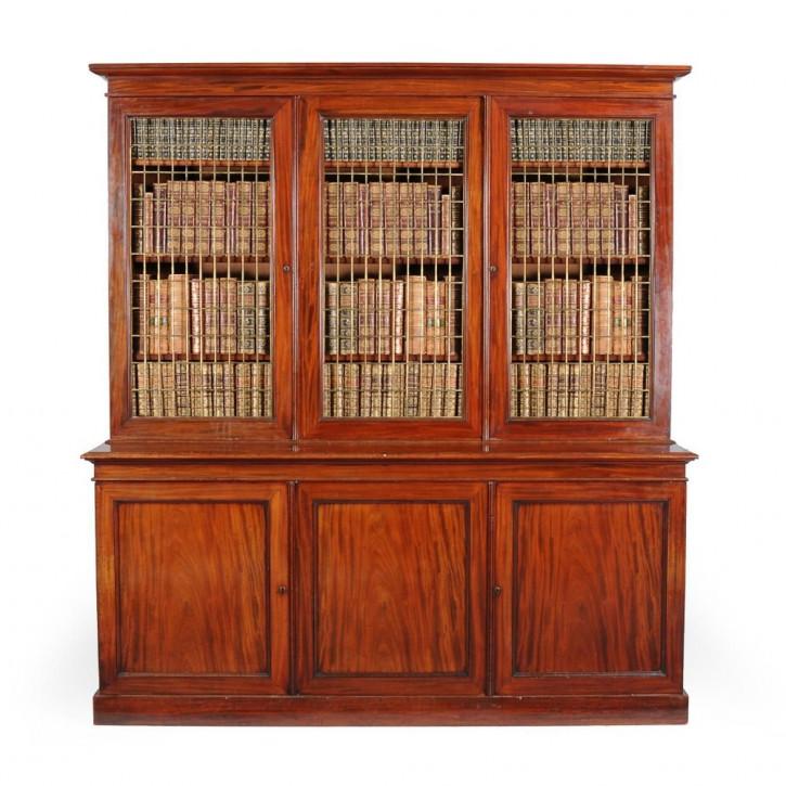 Antikes Mahagoni Bücherregal aus dem 19. Jahrhunderts