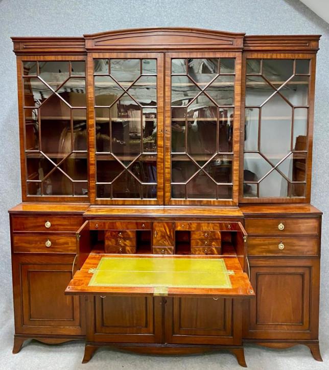 Antikes Mahagoni Bücherregal aus der Zeit George III