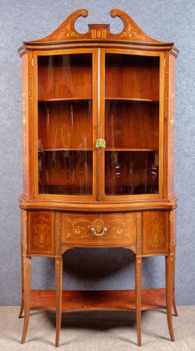 Antikes Inlaid Bücherregal von Edwards&Roberts