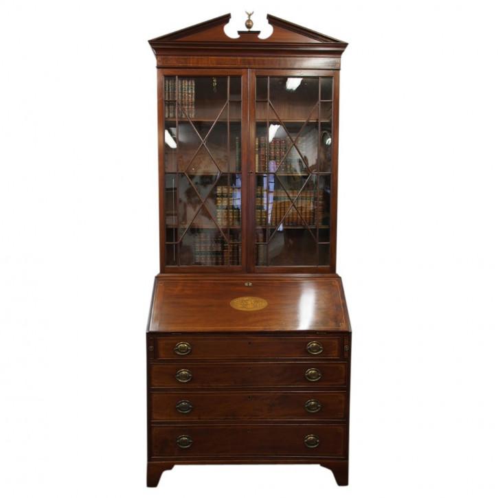 Antikes Inlaid Mahagoni Bücherregal aus der Zeit George III