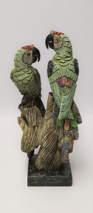Große antike chinesische Papageienskulptur