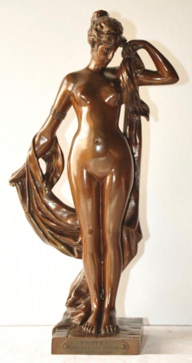Antike französische Bronzeskulptur von Pierre Campagne