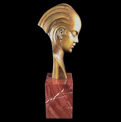 Antike Art Deco Bronzefigur von Guido Cacciapuoti von 1930