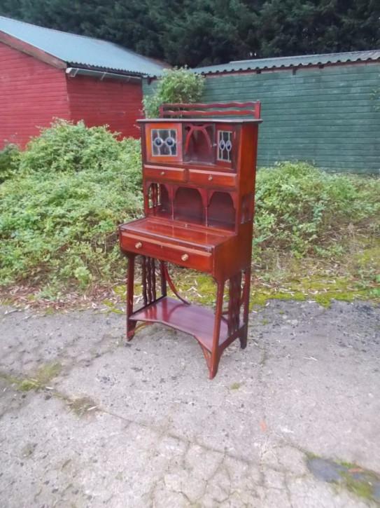 Antiker Mahagoni Büroschrank im Jugendstil