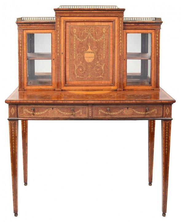 Antiker Schreibtisch aus der edwardianischen Zeit, 19. Jahrhundert.